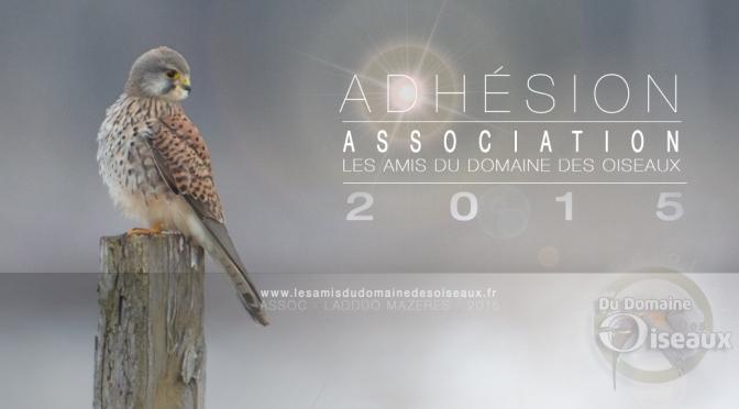 Adhésion à l'association pour l'année 2015