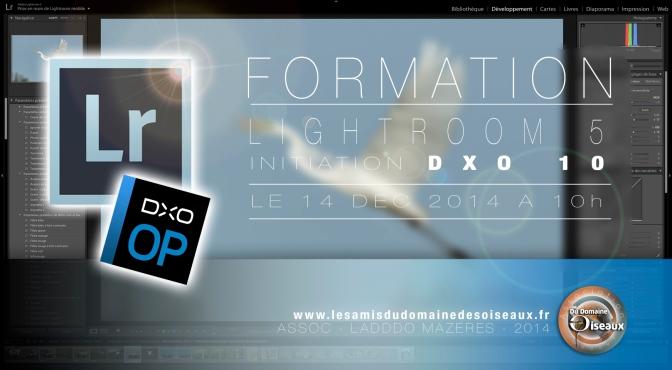 Formation Lightroom & DXO + Goûter de Noël