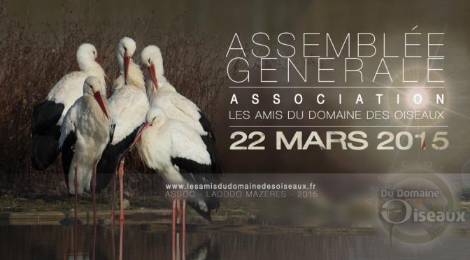 ASSEMBLÉE GÉNÉRALE le 22 MARS 2015