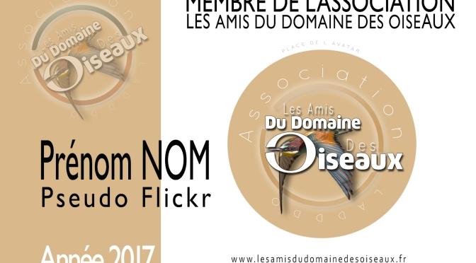 Badges 2017 – Les Amis du Domaine des Oiseaux