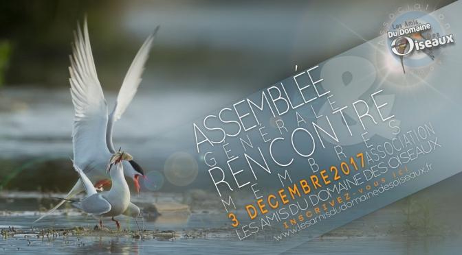 AG & RENCONTRE MEMBRES le 3 Dec 2017