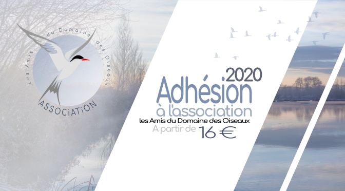 ADHÉSION À L'ASSOCIATION POUR L'ANNÉE 2020